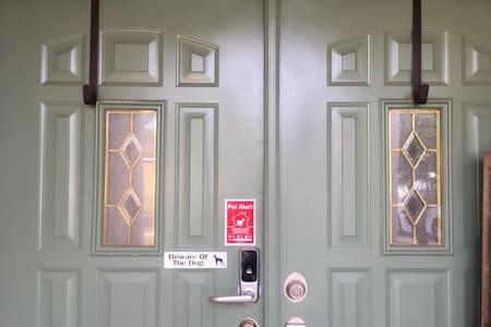 Double front doors.