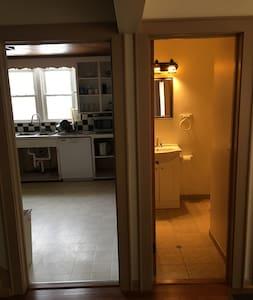 Kitchen and powder room first floor.