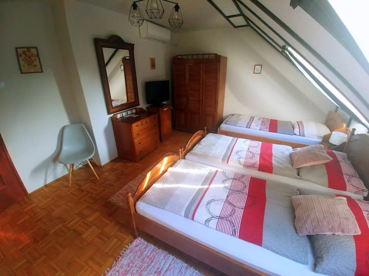 Welcome Guesthouse - triple room with garden view