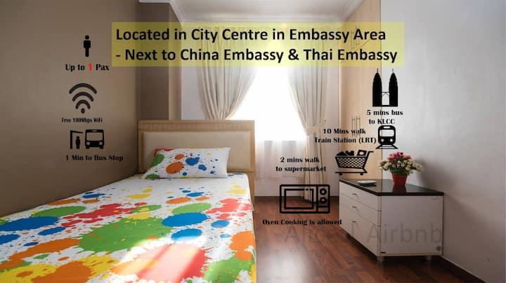 Comfy Room 5 mins KLCC | Intermark | Thai Embassy
