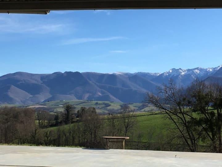 Waanzinnig uitzicht op de Pyreneeën!