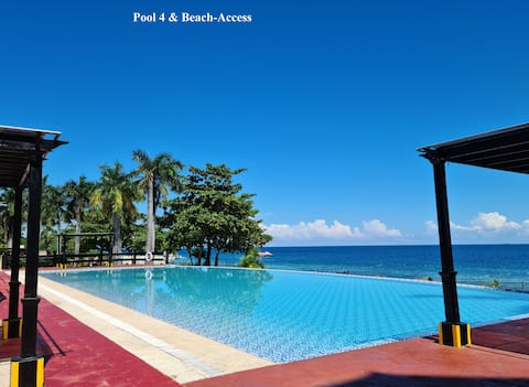 New Lux. 2BR condo-Beach + 5 pools - woow seaview