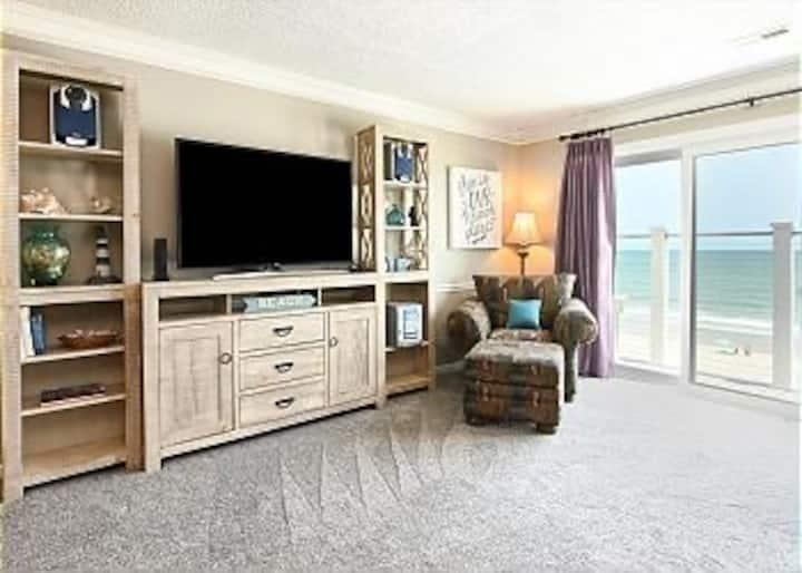 Surfside Roomy Ocean Front 3BR Condo