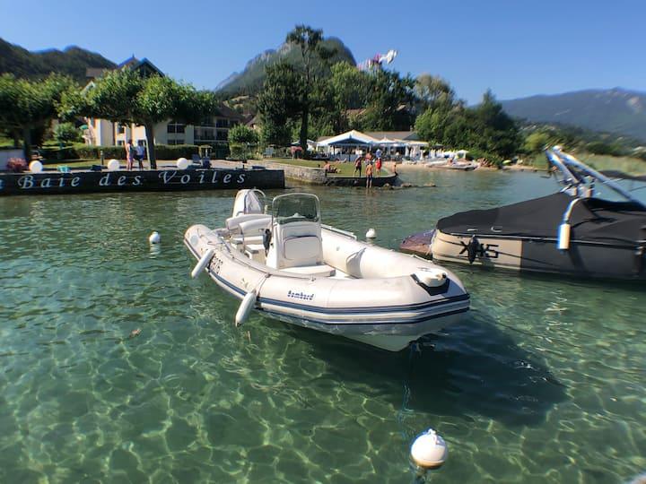 Lac d'Annecy, les pieds dans l'eau!
