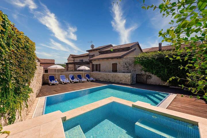 Magnificent Villa Magnolia in Vizinada with Pool