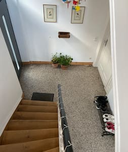 We have a big entrance hallway, so no problem if you have a buggy or pram.