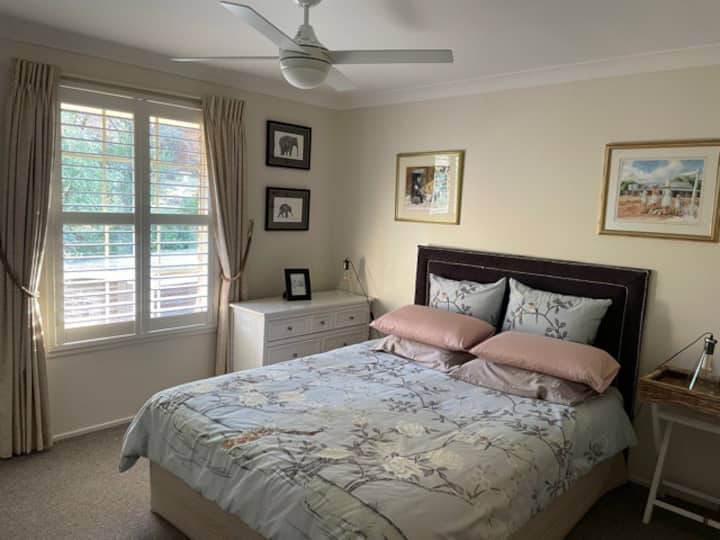 Comfortable room in family home.