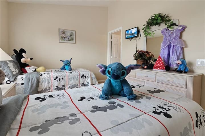 1 to 5 guests , No Cleaning FEES Close to Disney