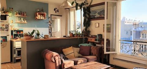Hermoso apartamento de 3 habitaciones, luminoso y tranquilo