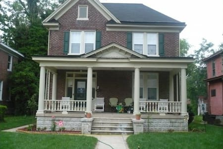 Front porch has a light as well as the side door