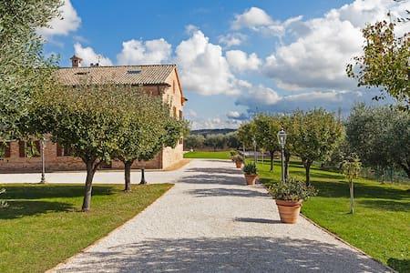 The entrance to the villa