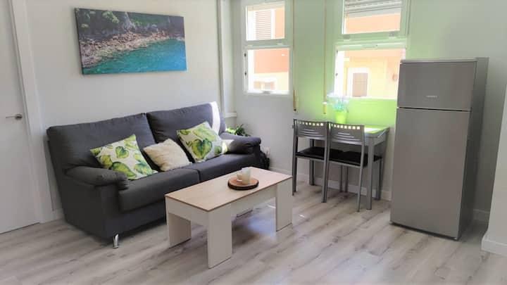 Moderno apartamento en primera línea de playa