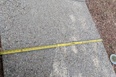 """41"""" wide concrete path from the driveway to your room"""