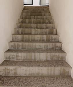 Escaleras para entrar al departamento