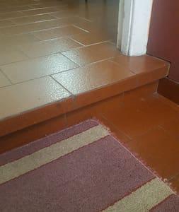 el ingreso a la casa posee 2 pequeños escalones de 10 cm