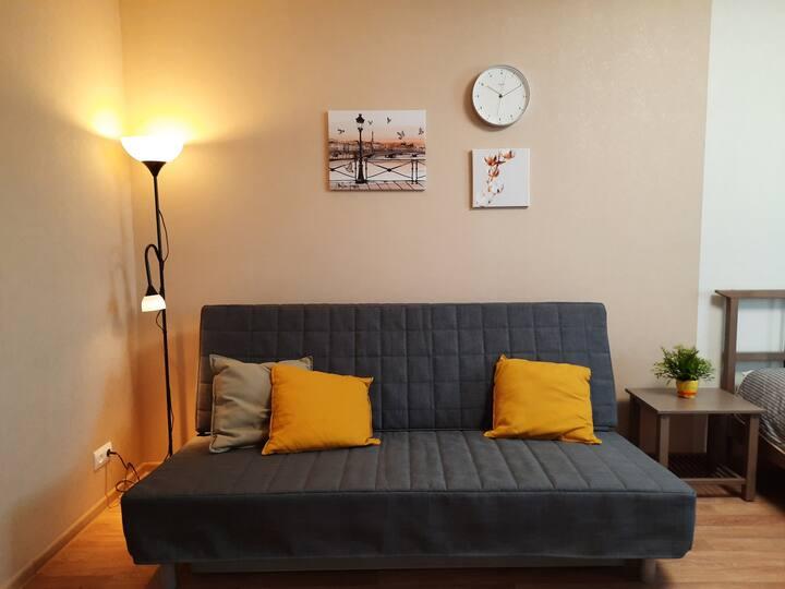 Комфортная 1к квартира в Академгородке