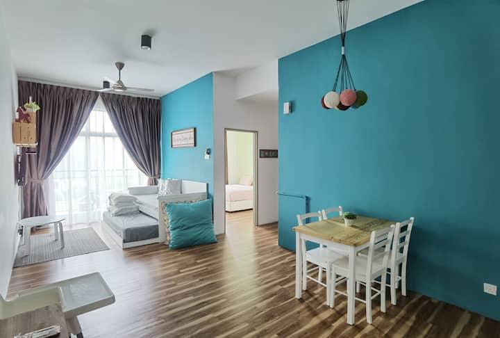 G Residence - 2-Bedrooms Family Suite@Golden Hills