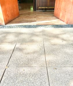 Step-free path to enter the building.