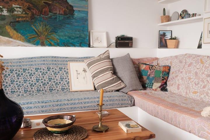 Casa del Pintor, piso con azotea y vista del Mar