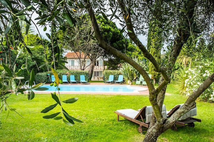 Villa Alosa-renovated-pool-garden-town