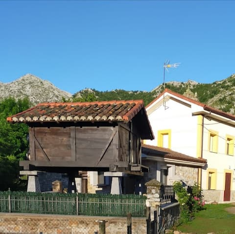 Little house with horreo, green area and two floor