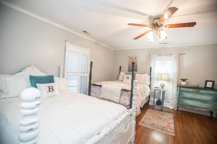 This room is perfect for kiddos!  It has 2 full beds in it.
