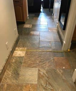 Interior hallway 44 inches/110cm wide