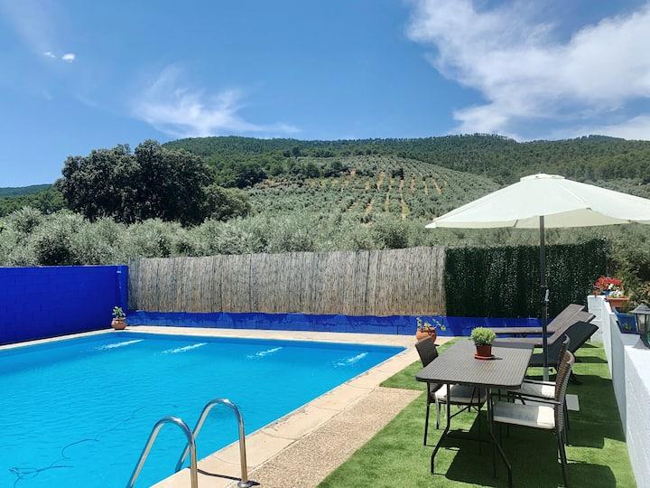 Magnifica casa rural con piscina privada