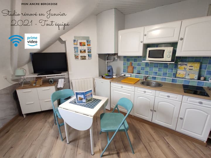 Charming Studio Le Castanon, 5 min from the beach