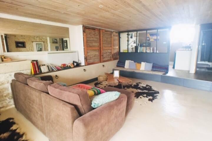 Grand logement style Loft