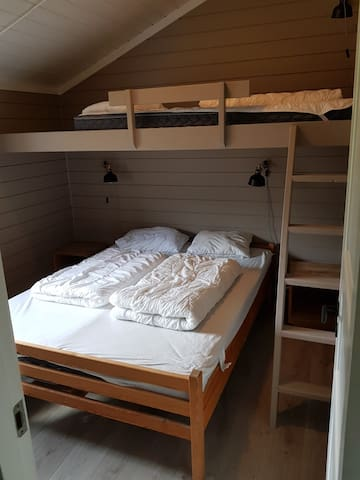 Master bed room - queen size bed and loft bed