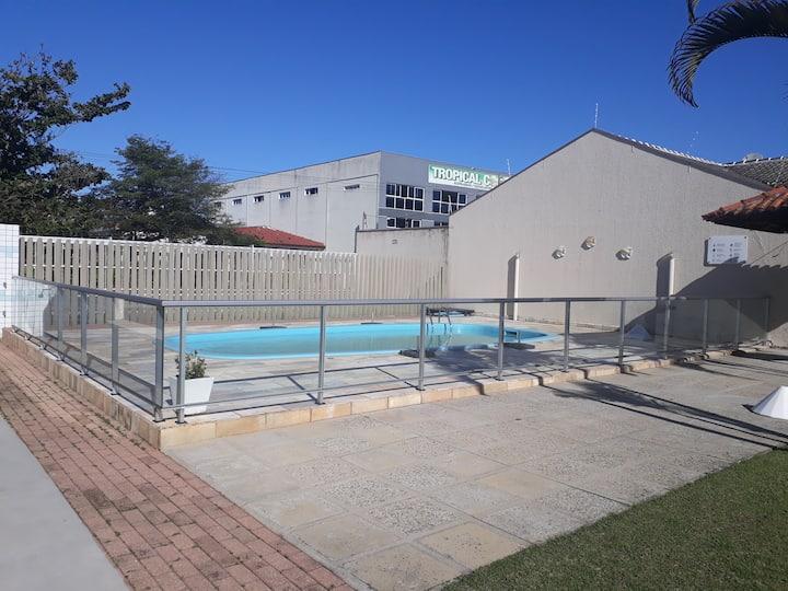 Condomínio com piscina