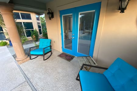 There are no steps from the driveway to the Casita, to make for an easy entrance.