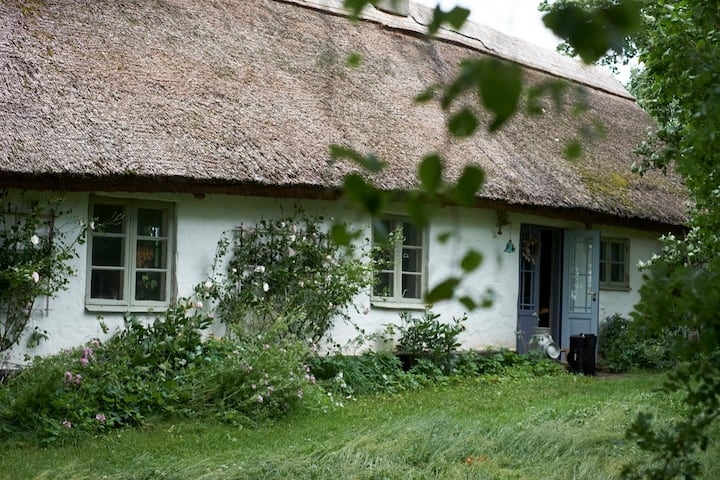 An adorable house built 1870 with thatched roof