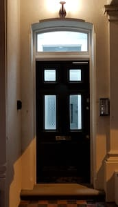 The lights outside the main door are on automatically on after dark, the lights leading to the flat come on as you move towards them and stay on for a couple of minutes.