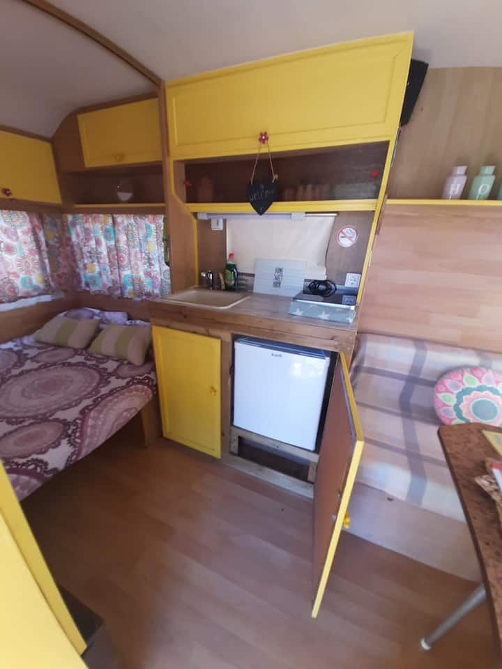 Cosy Vintage style Van for holidays on quiet site.