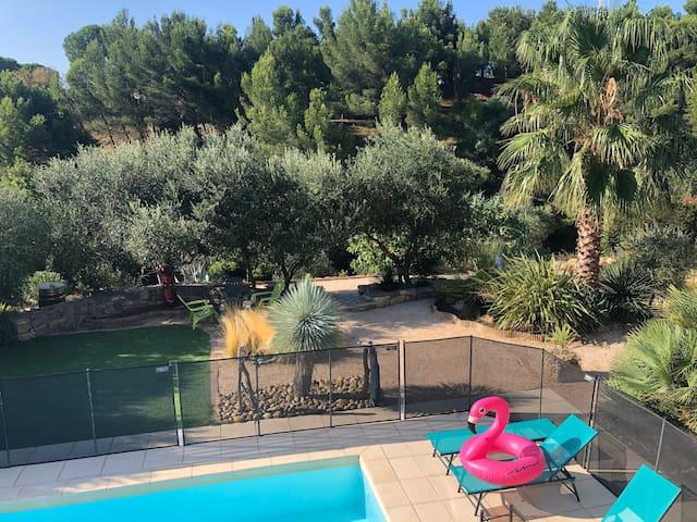 Villa avec piscine sud narbonne