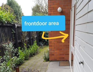 There is a flat path to the entrance of the house and a flat walk into the house.