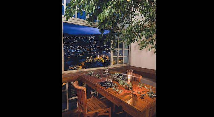 Loft mezzanine verrière avec vue