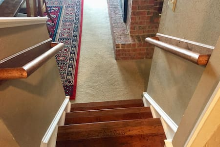 Handrails located in every area with steps