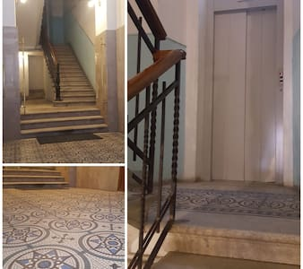 ascensore dopo alcuni scalini