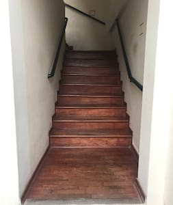 Stairs to enter apartment