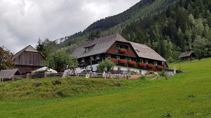 Biobauernhof zwischen Wald und Wiese