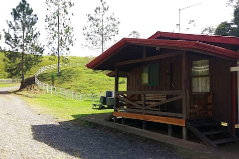 Nature surrounded cabin - rafting, horses & forest