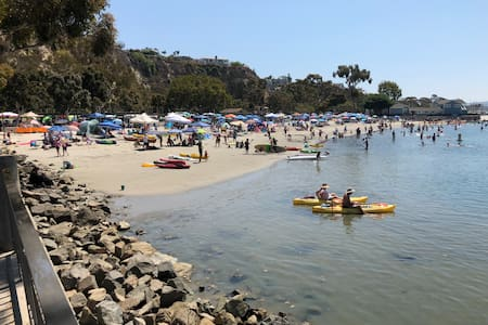 Visit baby beach or Strand Beach at Dana Point Harbour