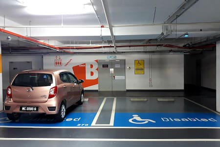 Disabled parking slot near to entrance