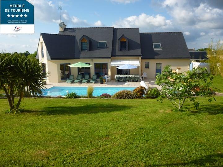 La villa de Kernévez-12 personnes-piscine privée