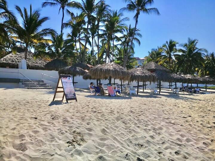 Private beach and pools @Vallarta