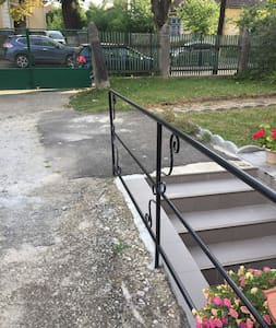 At the entrance of the apartment there are stairs