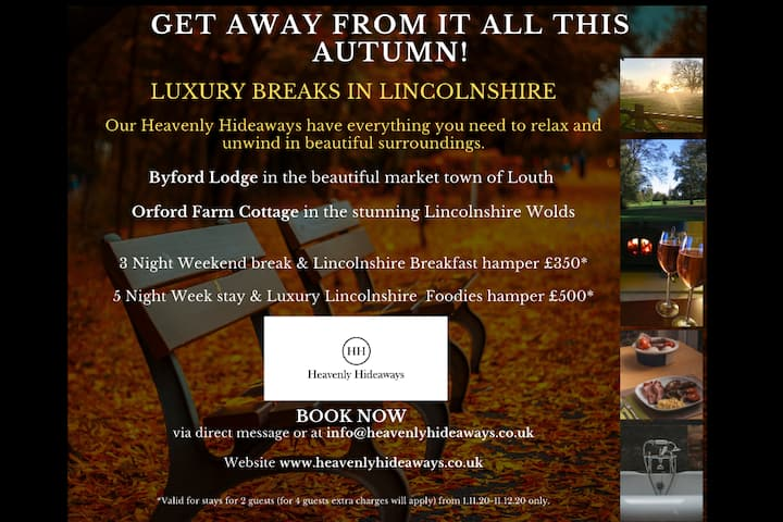 Book now! @HEAVENLY HIDEAWAYS 5* Gold BYFORD LODGE